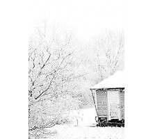 Shed in Snow Photographic Print