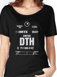 Docking Bay 327 DTH Luggage Tag Women's Relaxed Fit T-Shirt