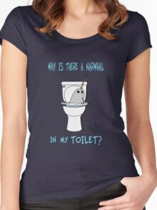 Narwhal In My Toilet Women's Fitted Scoop T-Shirt