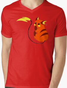 Cheeky Raichu Mens V-Neck T-Shirt