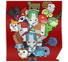 Castle Crasher Knight and Pets Poster