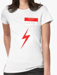 President Grayson of the Wally West Fanclub Womens Fitted T-Shirt