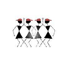 Warli -Dance moves Photographic Print