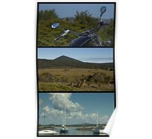 Clarence Peak.....Yachts, Kangaroos and a Motorbike Poster