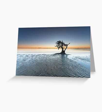 """Singularity"" ∞ Nudgee Beach, QLD - Australia Greeting Card"