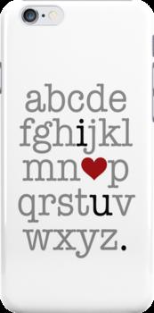 I Heart U. Alphabet by WickedCool