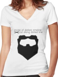 Incase of darkest timeline: Women's Fitted V-Neck T-Shirt