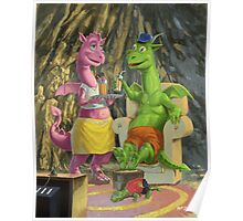 dragons relaxing at home Poster