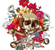 Day of the Dead Skull by tinaodarby