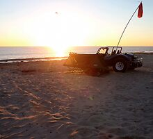 VW beach buggy camping on the beach by BigAndRed