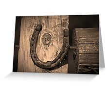 The Lucky Horseshoe Greeting Card