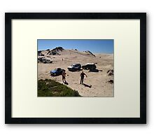 After a hard day at the office Framed Print