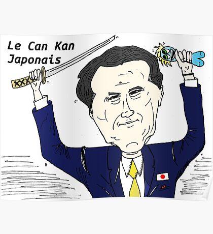 Le Can Kan japonais en caricature Poster
