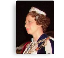 Her Majesty Queen Elizabeth  Canvas Print