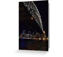 Sydney Harbour Bridge by Night Greeting Card