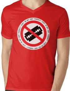 Do Not Hurt Yourself (Text Version) Mens V-Neck T-Shirt