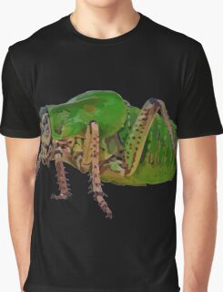 Katydid Vector On A Black Background Graphic T-Shirt
