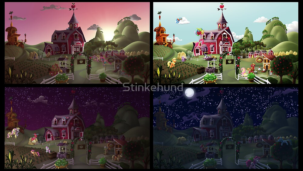 A Day on Sweet Apple Acres by Stinkehund