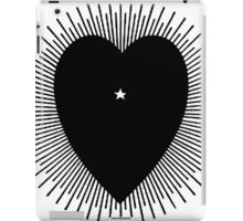 Black heart with sunburst, 1914 iPad Case/Skin