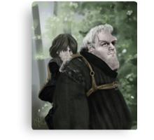 Bran and Hodor Canvas Print