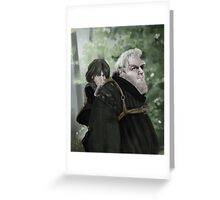 Bran and Hodor Greeting Card