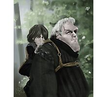 Bran and Hodor Photographic Print