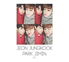 BTS/Bangtan Sonyeondan - Jungkook & Jimin Photocard Photographic Print