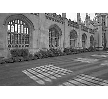 Shadows of King's College Cambridge Photographic Print