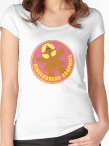 Gingerbread Graphics Women's Fitted Scoop T-Shirt