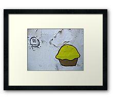 22/8 cupcake love Framed Print