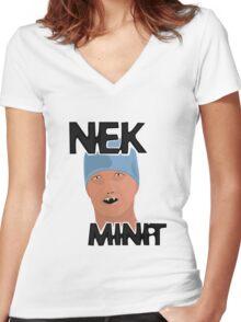 Nek Minit Women's Fitted V-Neck T-Shirt