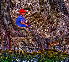 Fishing at the Cypress by Paul Wolf