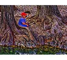 Fishing at the Cypress Photographic Print
