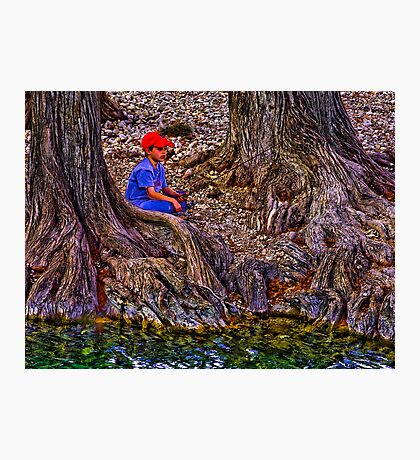 Fishing at the Cypress Photographic Print