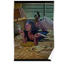 Pulp Fiction Mia Wallace Culture Cloth Zinc Collection Poster