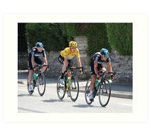 Sky Train - Tour de France 2012 Art Print