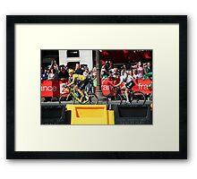 Tour de France 2012 - Wiggo & Cav in Paris Framed Print