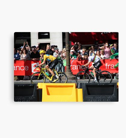 Tour de France 2012 - Wiggo & Cav in Paris Canvas Print
