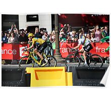 Tour de France 2012 - Wiggo & Cav in Paris Poster