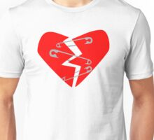 Safety Pin Heart Unisex T-Shirt