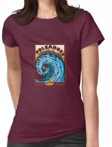 VOLCANOES EPIC SURF BREAK Womens Fitted T-Shirt