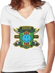 Watchmen - Nam Patch (embroidered) v2 Women's Fitted V-Neck T-Shirt
