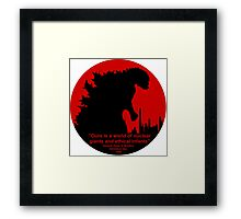 Godzilla - Nuclear Giant Framed Print