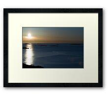 Blue Winter Sunset Framed Print