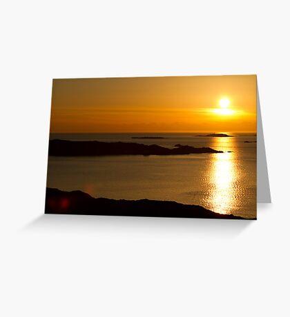 Golden Swedish Sunset Greeting Card
