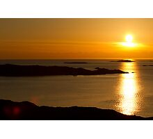 Golden Swedish Sunset Photographic Print