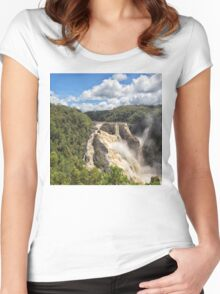 Barron Falls after a tropical storm Women's Fitted Scoop T-Shirt