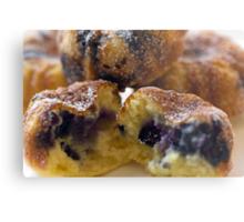 Blueberry Muffins Metal Print