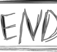 SLENDER game logo Sticker
