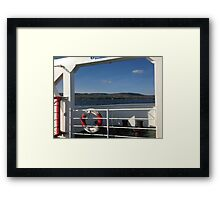 From the Foyle Ferry, Ireland Framed Print